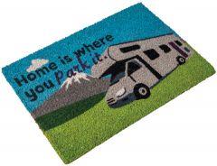 Motorhome Coir Mat - Home Is Where You Park It