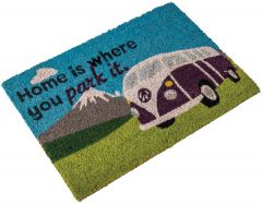 Camper Van Coir Mat - Home Is Where You Park It