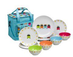Camper Smiles 12 pcs Melamine Set with 16ltr Cooler Bag