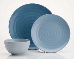 Shades Of Blue 12 Piece Melamine Set