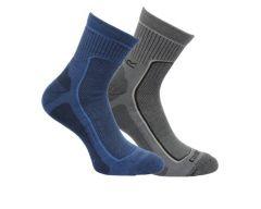 Regatta Mens 2 Pack Active Lifestyle Socks - Dark Denim / Granite