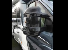 Milenco Wide Arm Motorhome Mirror Protectors - Black