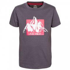 Trespass Noa Kid's Casual Printed T-Shirt - Carbon