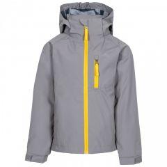 Trespass Overwhelm Kid's Waterproof Jacket - Storm Grey