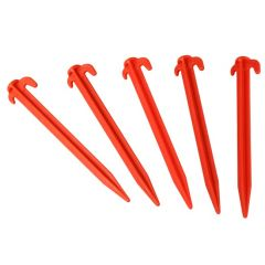 19cm Plastic Tent / Awning Pegs - Pack of 10