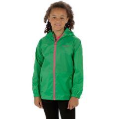 Regatta Kids Waterproof Packaway Pack It Jacket III - Island Green