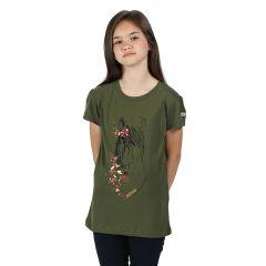 Regatta Bosley III Kid's Printed T-Shirt - Cypress Green Horse Print