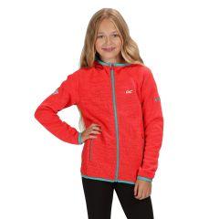 Regatta Kids' Dissolver II Hooded Fleece - Coral Blush