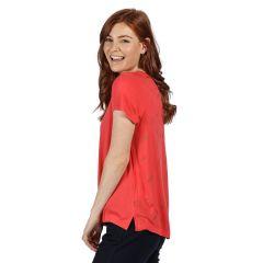 Regatta Aliva 2 Layer Printed Women's T-Shirt - Red Sky