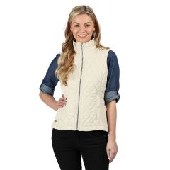 Regatta Women's Charna Insulated Diamond Quilted Bodywarmer Light Vanilla