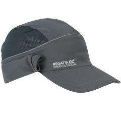 Regatta Men's Protector II Cap with Neck Protector - Seal Grey