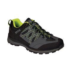 Regatta Samaris II Low Waterproof Men's Walking Shoes Black/Lime Punch (V)