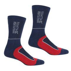 Regatta Samaris Men's 2-Season Walking Socks Navy/Red - 2 Pairs