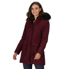 Regatta Womens Sefarina Parka Jacket Burgandy