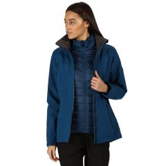 Regatta Shrigley 3-in-1 Interactive Womens Jacket & Fleece Combo in Opal Blue