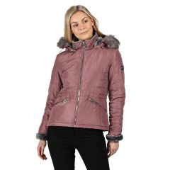 Regatta Women's Westlynn Insulated Quilted Fur Trimmed Hooded Jacket Dusky Heather