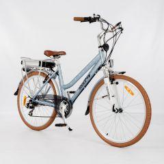 Roodog Polka Dot Electric Bike - Retro Blue