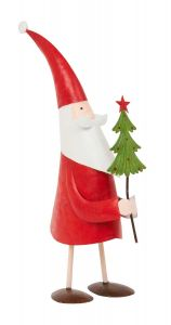 Christmas Santa Figure with Tree - 28cm Tall