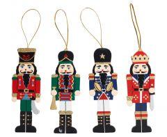 12cm Wooden Christmas Tree Decoration - Nutcracker