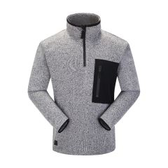 Skogstad Felden Mens Half-Zip Fleece Sweater in Casio Grey