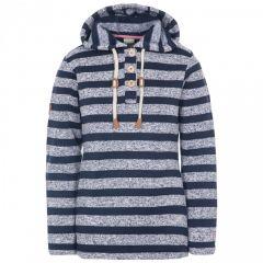 Trespass Society Women's Hooded Fleece - Navy Stripe Marl