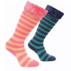 Regatta Kids Fur Collar Wellington Sock