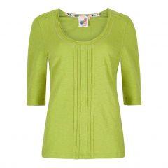 Weird Fish Women's Santana Cotton T-Shirt - Lime