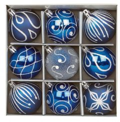 Midnight Blue Christmas Baubles