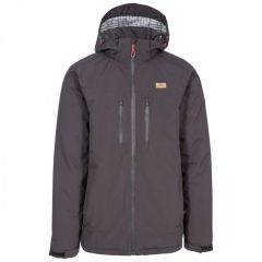Trespass Toffit Men's Hooded Waterproof Jacket - Dark Grey