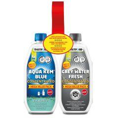 Thetford Aqua Kem Blue Eucalyptus and Grey Water Duo Pack Concentrate