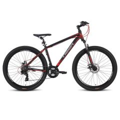 Tiger Ace 21 Speed Hardtail MTB - Black/Red