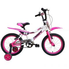 "Tiger Moto 88 Pink Girls Bike - 16"" Wheel"