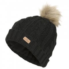 Trespass Lillia Women's Knitted Bobble Hat - Black