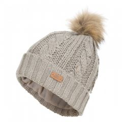 Trespass Lillia Women's Knitted Bobble Hat - Pebble