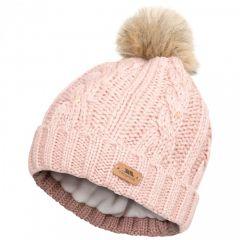Trespass Lillia Women's Knitted Bobble Hat - Rose
