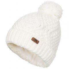 Trespass Zyra Women's Knitted Bobble Hat - Ghost