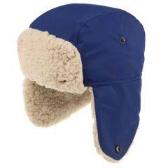 Regatta Kids' Tavis II Fur Lined Reflective Trapper Hat - Prussian Blue