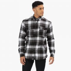 Regatta Men's Tygo Long Sleeved Checked Lined Shirt - Black