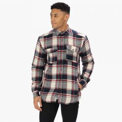 Regatta Men's Tygo Long Sleeved Checked Lined Shirt - Navy