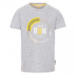 Trespass Undaunted Kid's Printed T-Shirt - Grey Marl