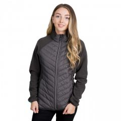 Trespass Underpinned Women's Quilted Fleece Jacket - Charcoal