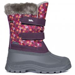 Trespass Vause Kids' Pull On Snow Boots - Floral Pink
