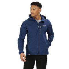 Regatta Men's Vorro Hooded Full Zip Fleece - Prussian Blue