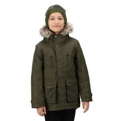Regatta Podrick Kids' Parka Jacket - Dark Khaki