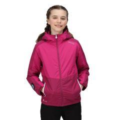 Regatta Beamz Waterproof Kids Jacket - Raspberry Radiance/Fuschia