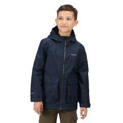 Regatta Salman Kids' Waterproof Jacket - Navy