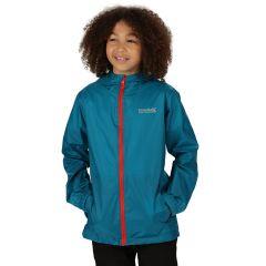 Regatta Kids Waterproof Packaway Pack It Jacket III - Teal