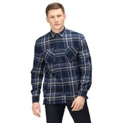 Regatta Long Sleeved Checked Shirt - Navy