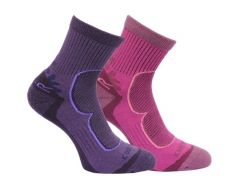 Regatta Womens 2 Pair Active Lifestyle Sock - Blackberry