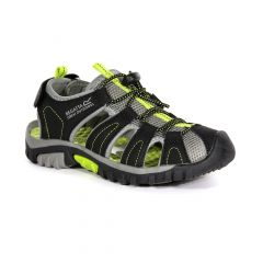 Regatta Kids' Westshore Sandals - Black Lime Green